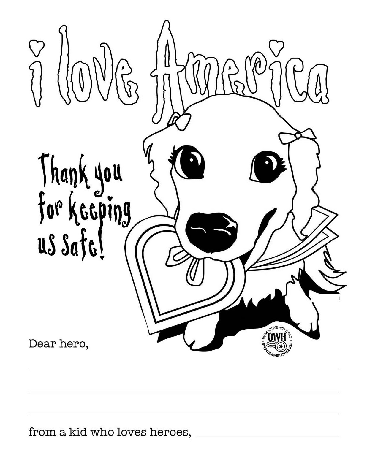 Thank You Coloring Pages For Troops
